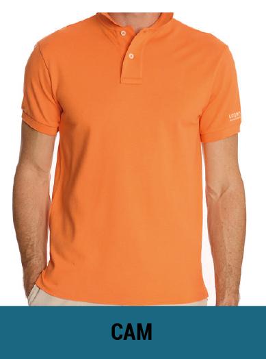 áo thun đồng phục màu cam tươi