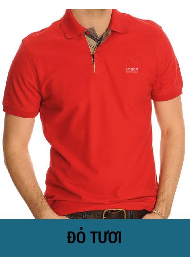 áo thun đồng phục màu đỏ tươi