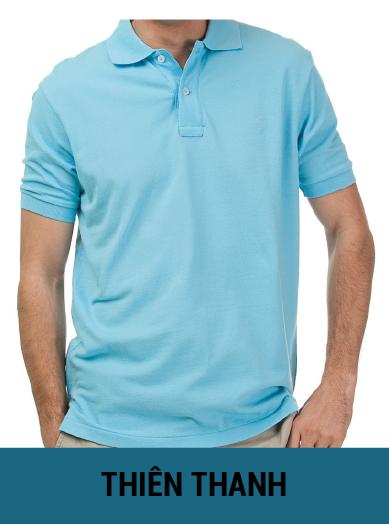 áo thun đồng phục màu xanh thiên thanh