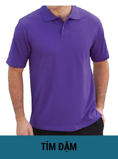áo thun màu tím đậm