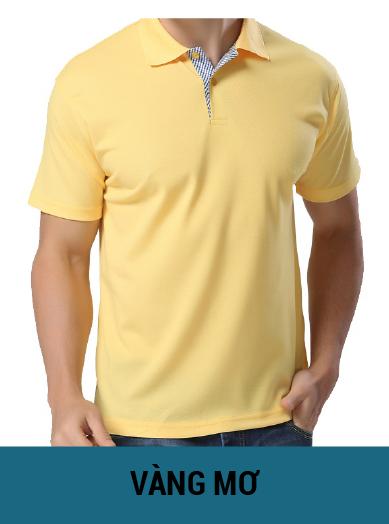 áo thun đồng phục màu vàng mơ