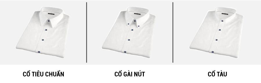 3 kiểu cổ áo collar sơ mi đồng phục phổ biến