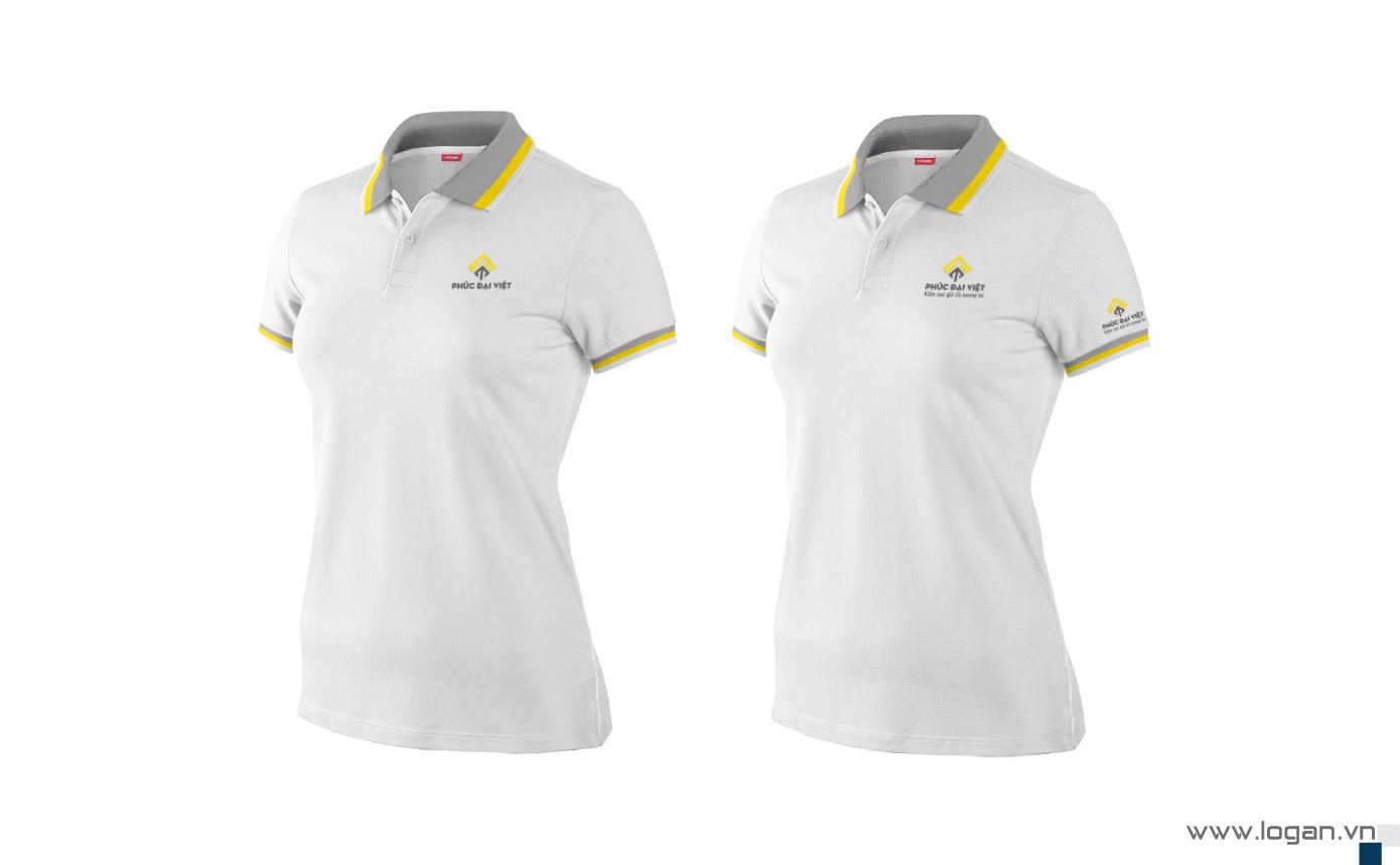 mẫu áo thun đồng phục trắng