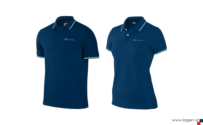 mẫu áo thun đồng phục màu xanh