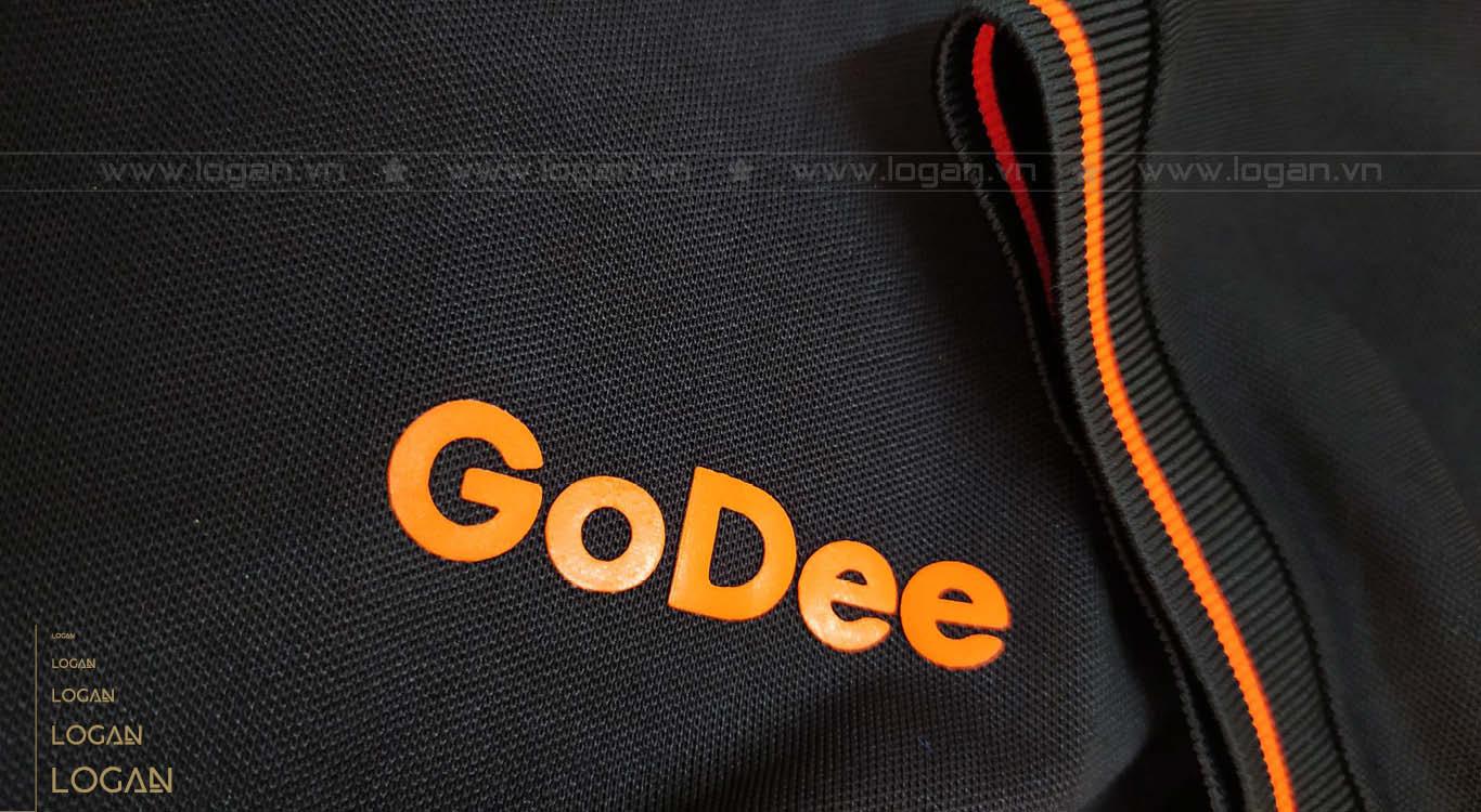 áo thun đồng phục đen cam