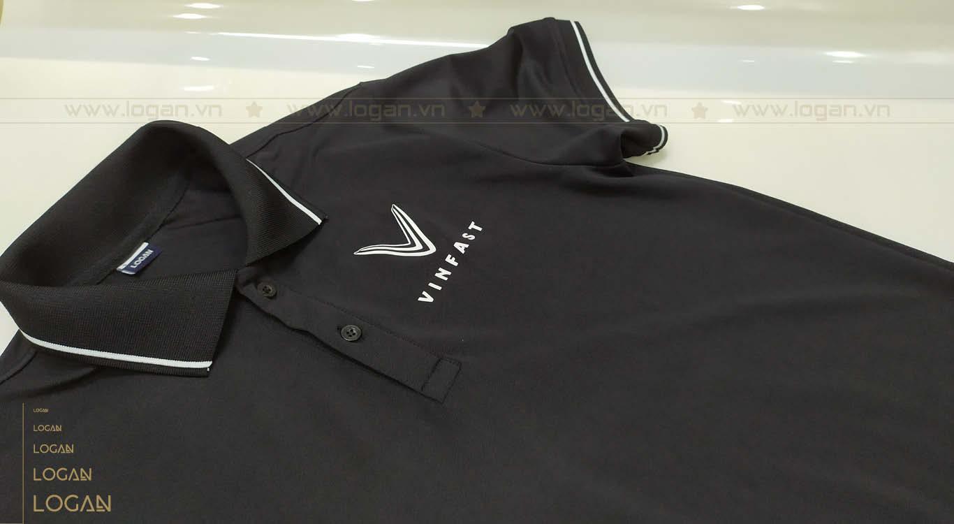 áo thun đồng phục đen sọc trắng