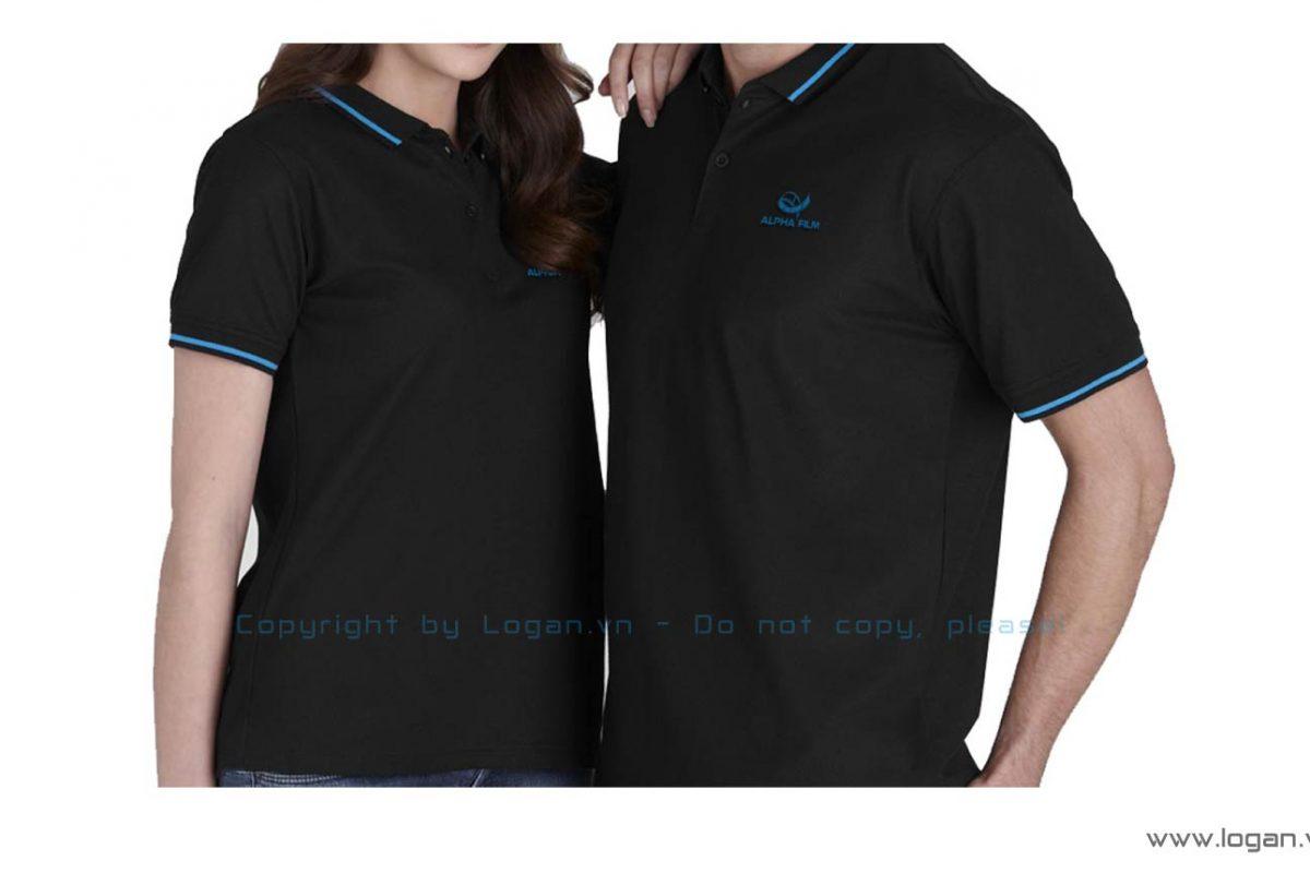 áo thun đồng phục đen xanh