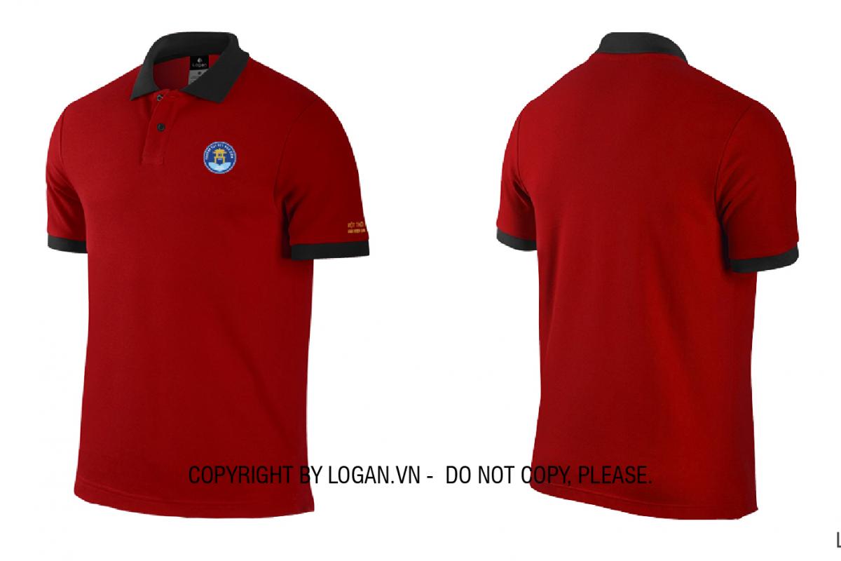 áo thun đồng phục đỏ đen THCS Thành Công
