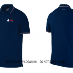 Áo thun đồng phục xanh đen sọc trắng-đỏ AVA Windows