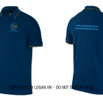 Áo thun đồng phục xanh đen viền vàng ANT