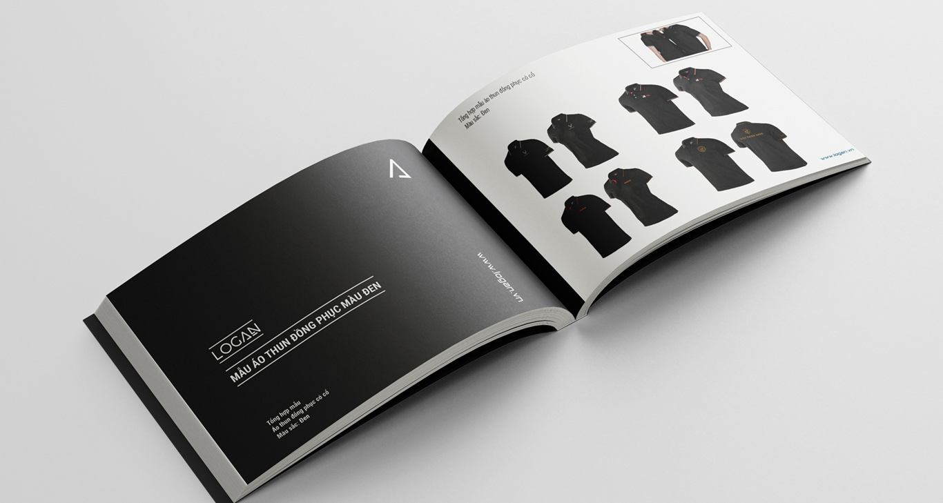 catalogue mẫu áo thun đồng phục màu đen